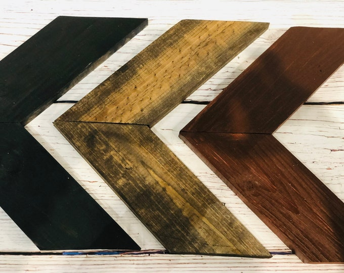 Campfire Wooden Chevron Arrows-Set of 3