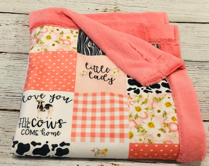 Little Lady Minky Blankets & Bedding (+ FREE NAME EMBROIDERY)