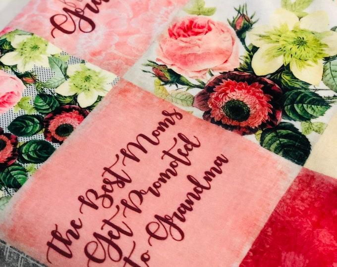 "FREE NAME EMBROIDERY-""Grandma"" Minky Blankets & Bedding"