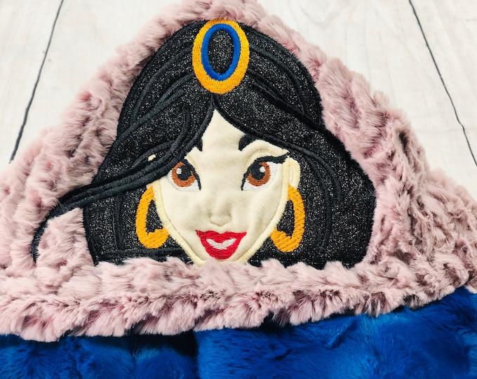Jasmine (Aladdin) Hooded Blankets (+ FREE NAME EMBROIDERY)
