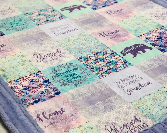 Best Grandma Ever Minky Blankets & Bedding (+FREE NAME EMBROIDERY)