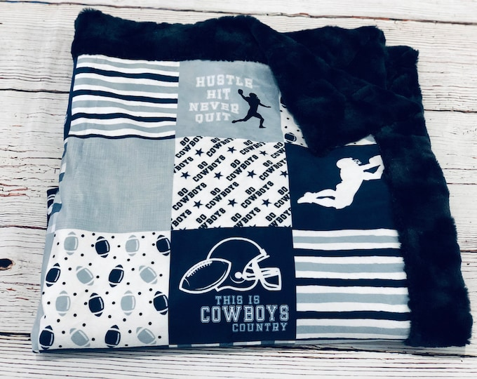 Cowboys Minky Blankets & Bedding (+ FREE NAME EMBROIDERY)
