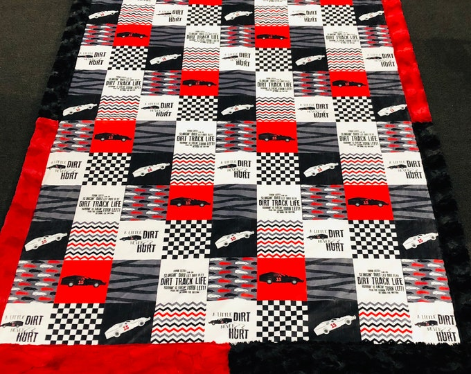 Specialty Race Car Minky Blankets & Bedding (+ FREE NAME EMBROIDERY)