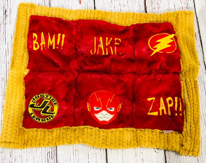 Super Hero Themed Weighted Lap Pads (++ FREE NAME EMBROIDERY++)