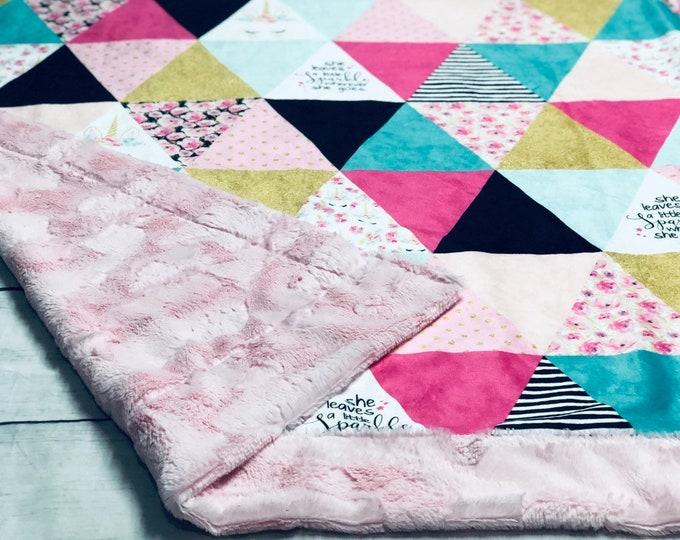 Unicorn Minky Blanket