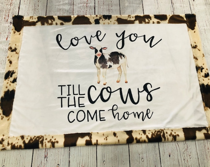Cow Minky Blankets + Bedding (FREE NAME EMBROIDERY)