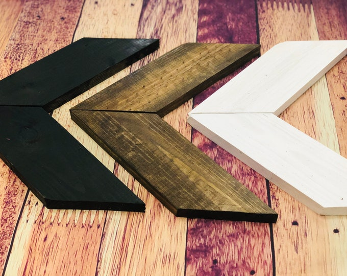 Modern & Chic Wooden Chevron Arrows-Set of 3