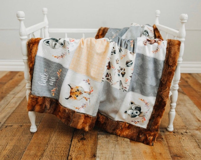 Little One Woodlands Minky Blankets & Bedding (+ FREE NAME EMBROIDERY)