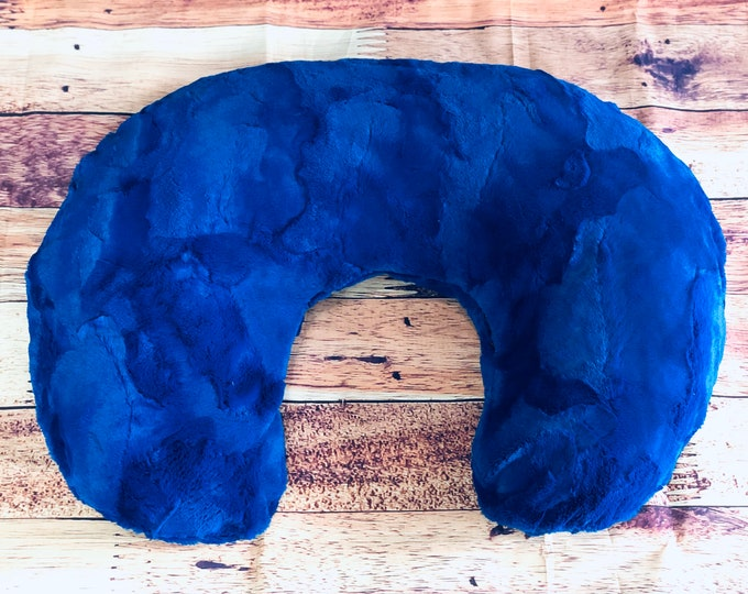 Royal Blue Minky Boppy Cover