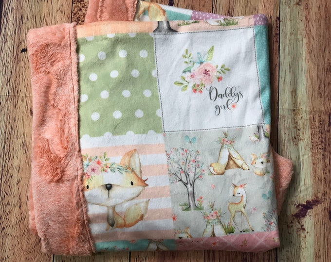 Daddy's Girl Minky Blankets & Bedding (+ FREE NAME EMBROIDERY)