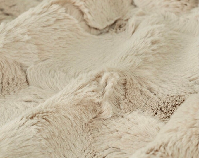 Champagne Hide Luxe Cuddle Minky Fabric by Shannon Fabrics