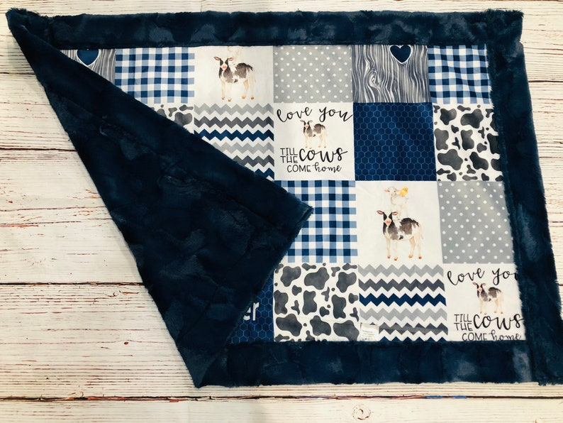 FREE NAME EMBROIDERY-Farm Life Minky Blankets /& Bedding