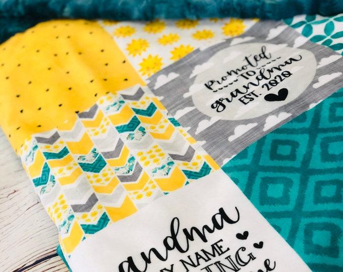 "FREE NAME EMBROIDERY-""Grandma Themed"" Minky Blankets & Bedding"