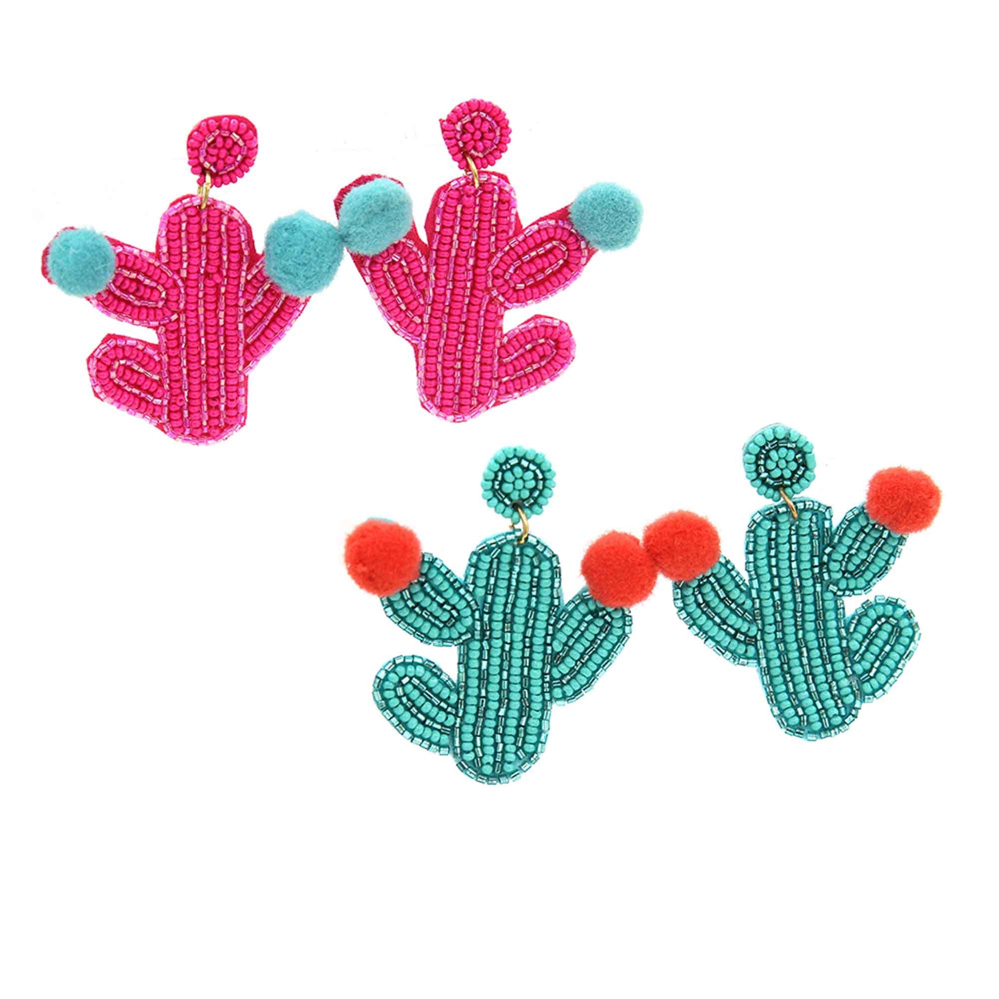 Ouxioaz Boys Swim Trunk Plants Cactus Pattern Beach Board Shorts
