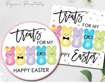 Wishing You An Eggcellent Easter Personalized Easter Gift Labels or Tags 3 Sizes Bold Cursive Lettering Easter Stickers