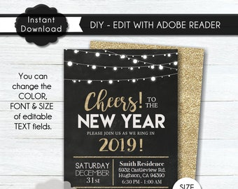 Diy New Years Party Etsy