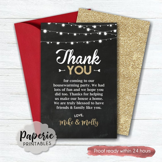 Custom Thank You Card #HW04 - Country Thank You Card Thank You Card Housewarming Thank You Card Burlap with Lace Thank You Card