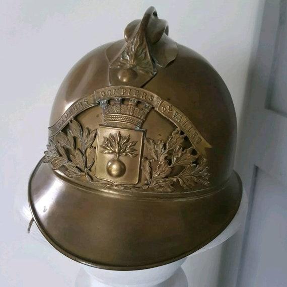 Brass Antique Helmet Brass Fireman French Helmet Firefighter SCA With Gift