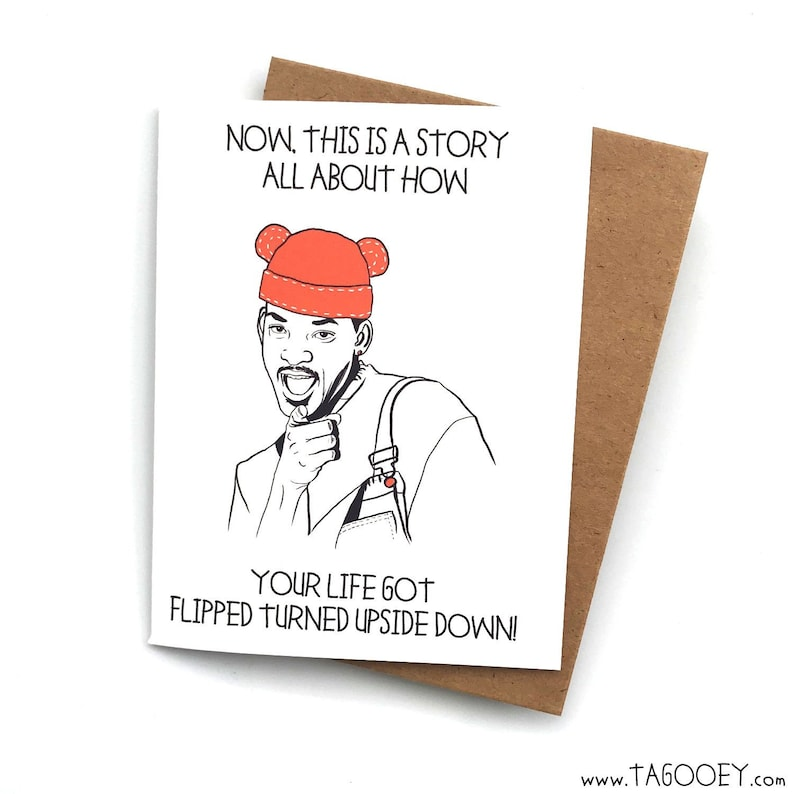 Fresh Prince Funny Baby Card Baby Shower Gift Funny Baby Etsy