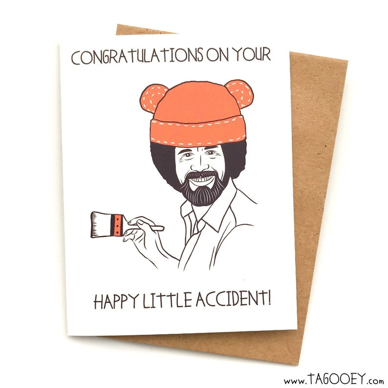 Happy Little Accident Baby Shower Card, Baby Shower Gift, Funny Baby Shower  Card, Baby Boy, Baby Girl, Unisex Baby, funny pregnancy card