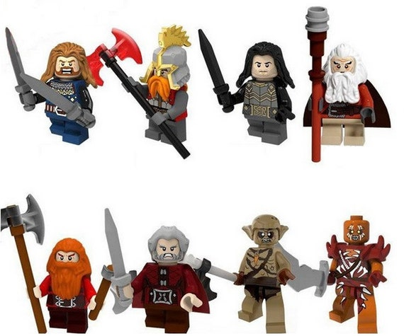 Lord Of The Rings Gondor Soldiers  The Hobbit Toy Mini Figures use with lego 8