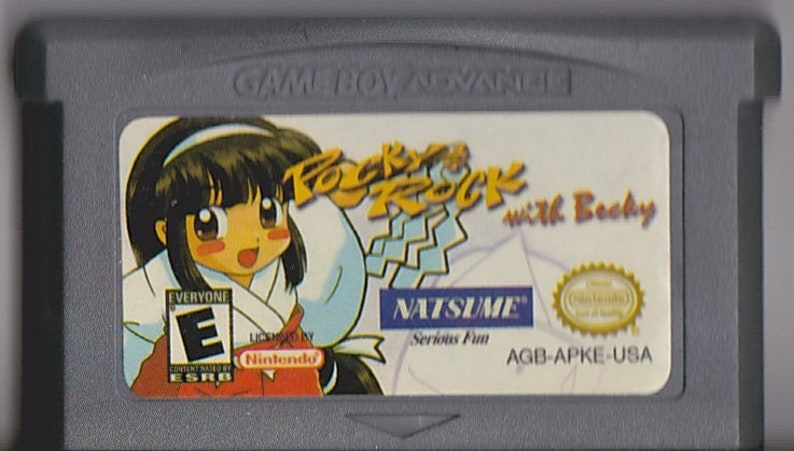 Game GBA Gameboy game Boy Advance Pocky /& Rocky witch Becky Custom