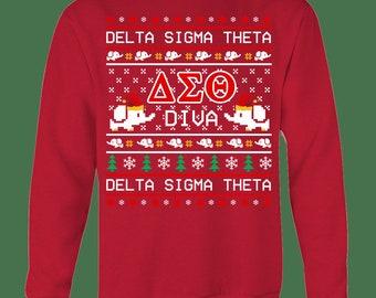 Delta Sigma Theta Sweater Etsy