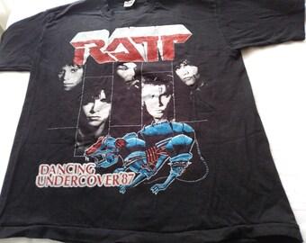 778c58e2ff3d Poison   RATT 1987 Concert Tour Tee Shirt