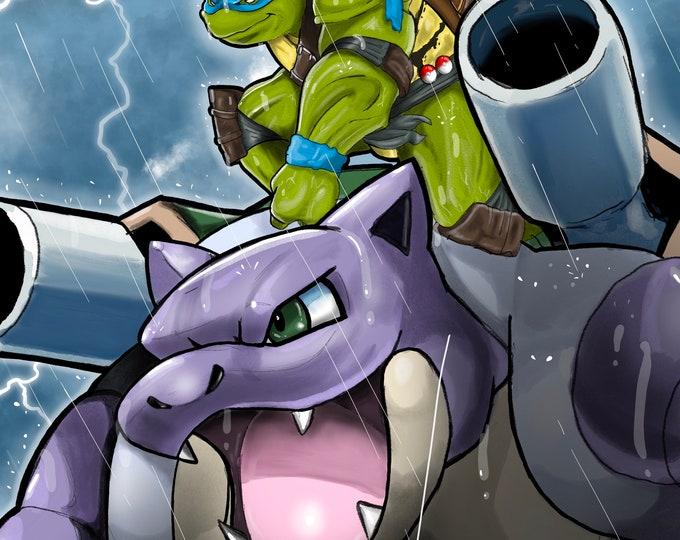 Turtle Power 11x14 Poster Print