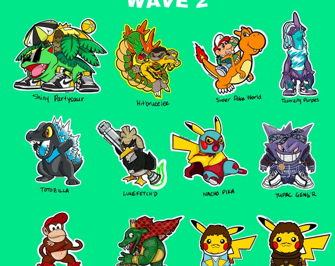 Hypemon Wave 2 Stickers