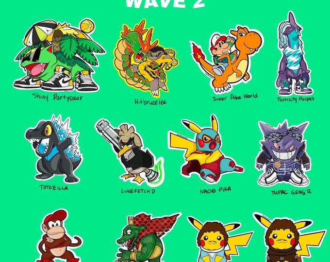 Hypemon Wave 2 Stickers