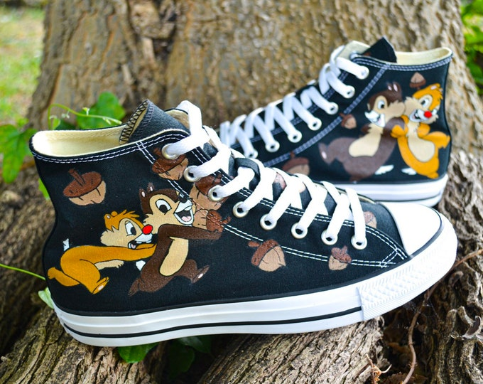 Chip N Dale Acorns Converse Hi Tops