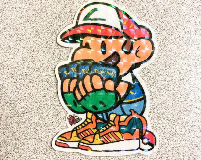 Pokémon Trainer Mario Sticker