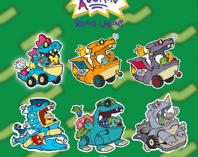 RugMon Wagons Stickers