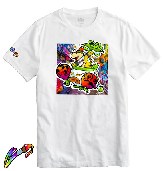 Bowser Jr & Boxing Legends Graffiti Collection Tee