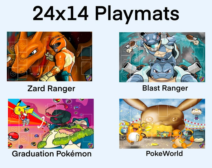 24x14 Playmats with Grid or w/out grids