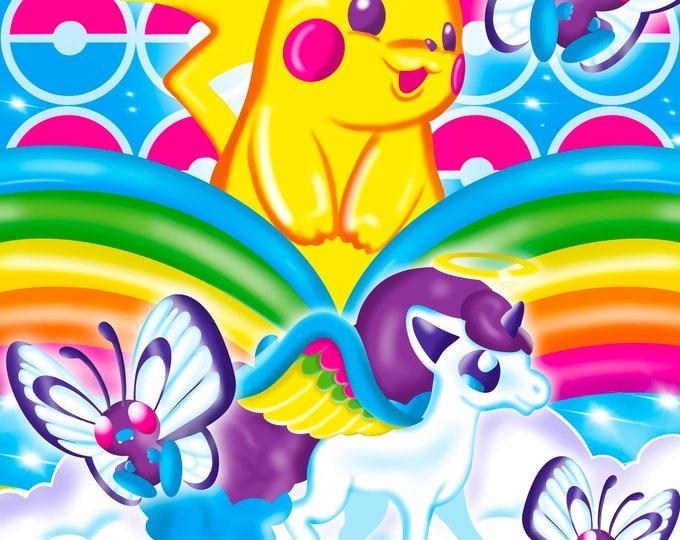 Colorful Pkmon 11x14 Print