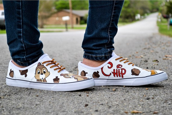 Chip & Dale Chipmunk Vans Authentic