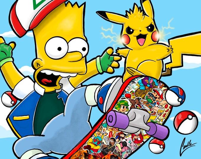 Bart & Spike 11x14 Print