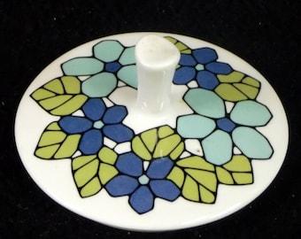 Set of 4 Vintage Franciscan CANTATA Salad Plates Very Good Condition circa 1965-1972 Pretty Shades of Blues and Greens