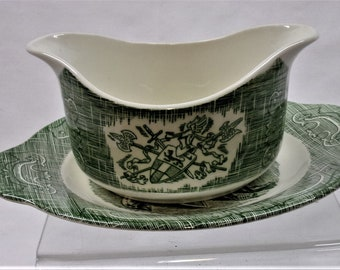 """Royal China 'The Old Curiosity Shop"""" Gravy Boat with Underplate"""