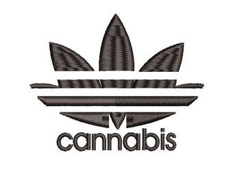 3fe077006f9df7 Cannabis Adidas Spoof Embroidery file