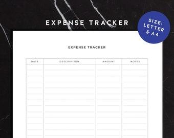 expense log etsy