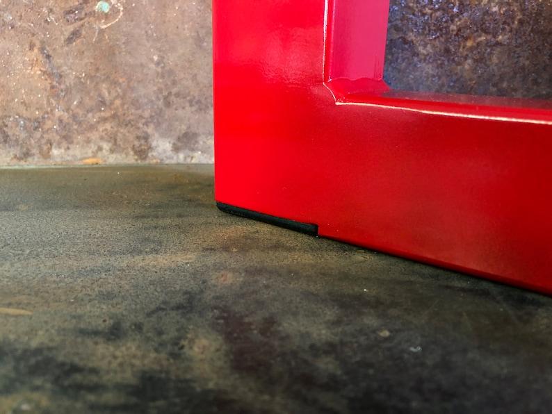 Metal Table Legs 2x2 U Red Set of 2