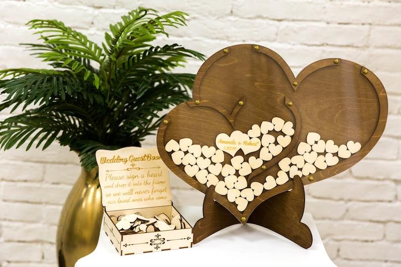 Wedding guest book Heart guest book wooden wedding guestbook wedding guest book alternative wedding sign Guestbook wedding guestbook