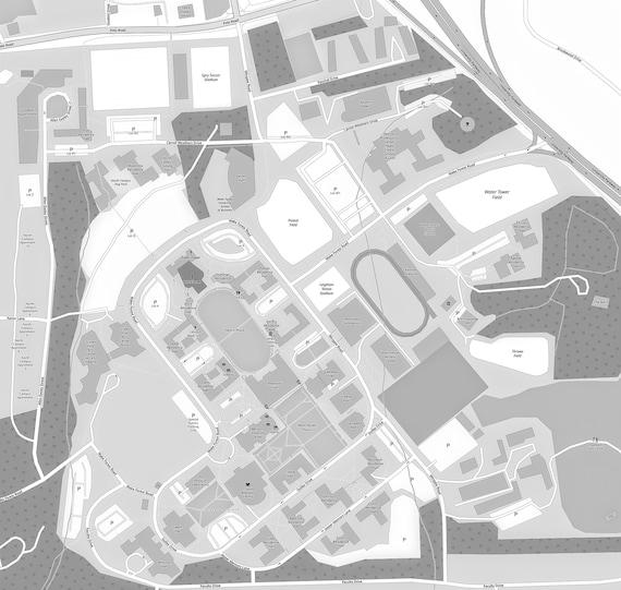 Wake Forest University map