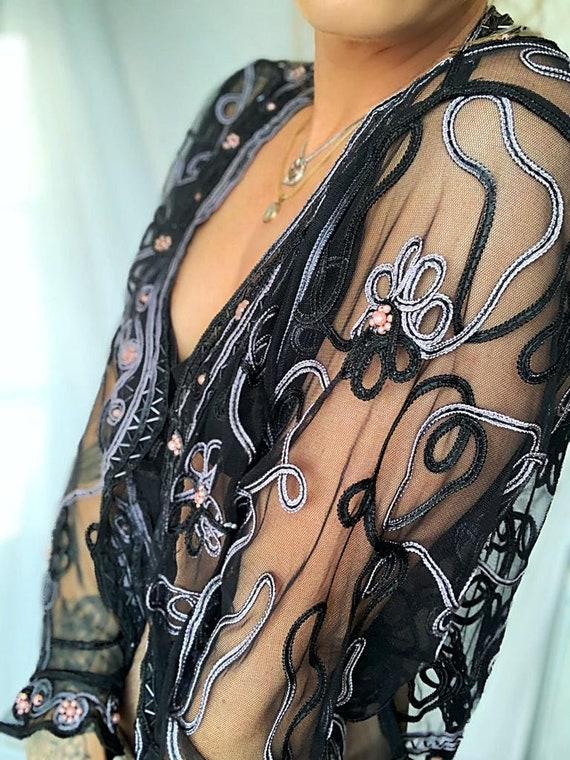 50-70% de réduction Nouvelle liste style distinctif Vintage Embroidered bolero