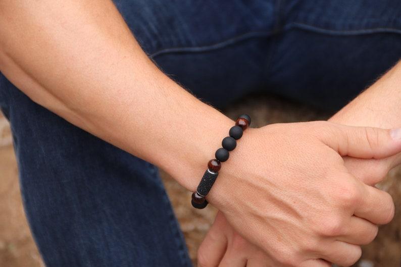 Unique Black Wood Bracelet image 0