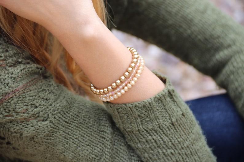 Champagne Stackable Bracelets image 0