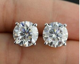 5091f46ac00e6 Moissanite earrings | Etsy